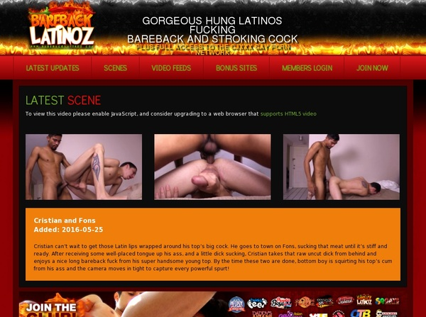 BareBack Latinoz Daily Pass
